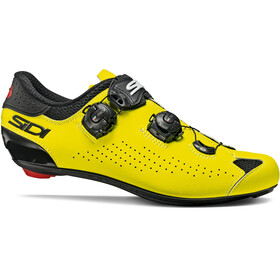 Sidi Genius 10 Shoes Men, black/yellow fluo